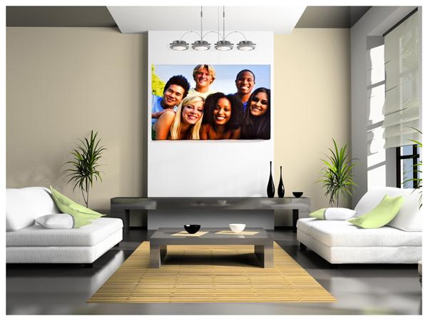 Idee per arredare il salotto le tue foto su stampe d for Quadri arredo salotto