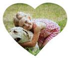 puzzle personalizzato con foto bambina con cane