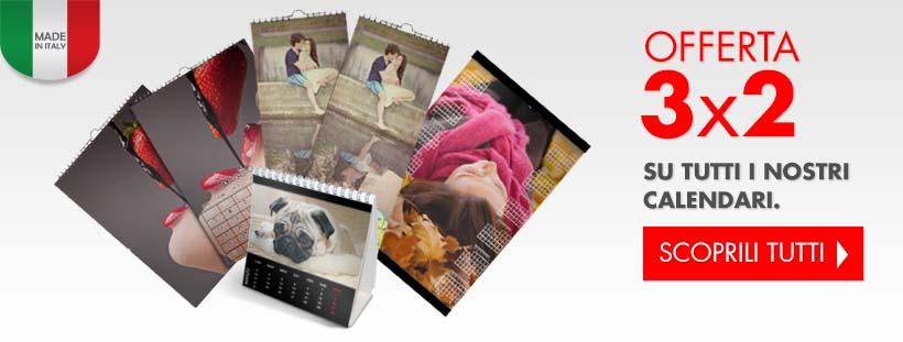 offerta sui calendari personalizzati con foto